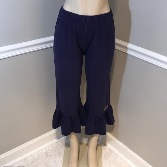 aa10659816 MATILDA JANE Navy Women s Ruffle Capri Pant Size S